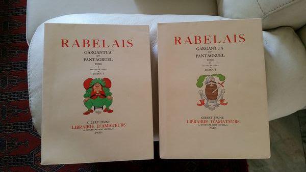 Gargantua et Pantagruel de RABELAIS. Illustration de DUBOUT. 280 Biscarrosse (40)