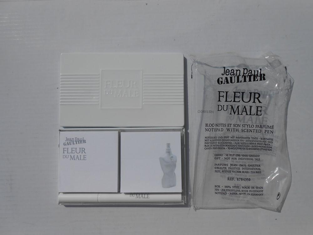 GAULTIER -   BLOC NOTES + STYLO   FLEUR DU MALE (2009)  18 Desvres (62)