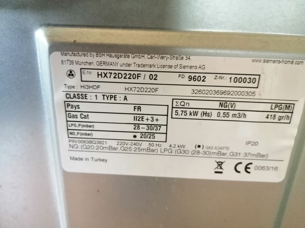 Gaziniere Siemens 120 Mormant (77)