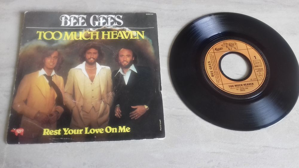 THE BEE GEES, 1978-1979, 2 vinyles 45 tours 5 Éragny (95)