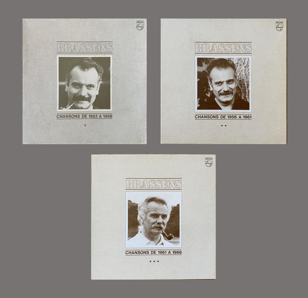 Georges Brassens 3 coffrets de 3 vinyls  75 Sanguinet (40)
