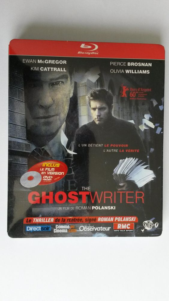 Blu-ray + DVD : The GHOST WRITER 0 Montigny-le-Bretonneux (78)