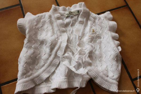 gilet boléro blanc 18 mois Vêtements enfants