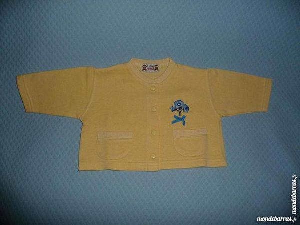 Gilet cardigan jaune 1 an 6 Montigny-le-Bretonneux (78)