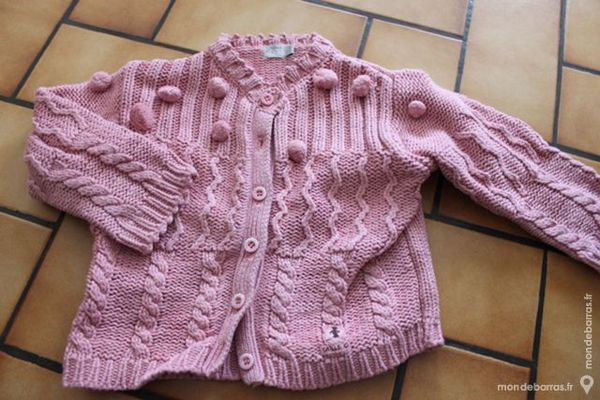 Gilet maille rose taille 0 1 an 12 Wervicq-Sud (59)