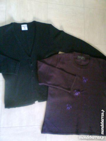 Gilet noir et pull -42/44 -zoe Vêtements