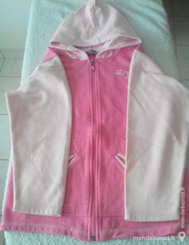 Gilet sweat - rose - fille 4 Pont-Péan (35)