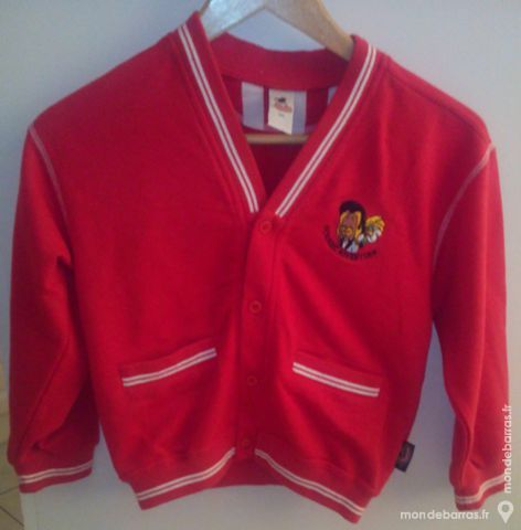 Gilet sweat - rouge - enfant 3 Pont-Péan (35)