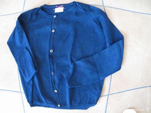 Gilet Zara bleu marine fille 11/12 ans Vêtements enfants
