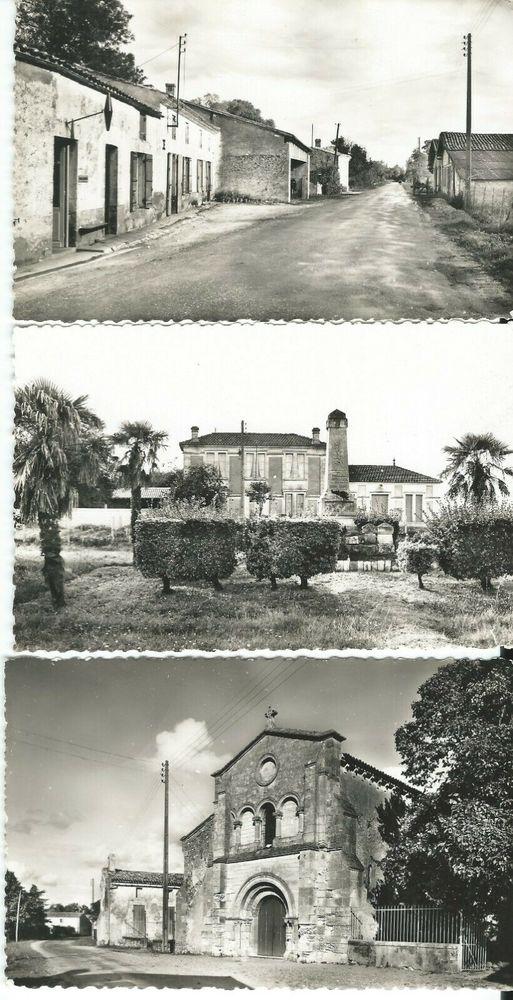 33 Gironde -3 CARTES POSTALES d'autrefois-CAMPUGNAN 7 Blaye (33)