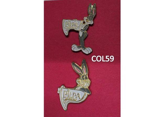 2 Pin's : GLACES PILPA - Lapin 3 Mons-en-Barœul (59)