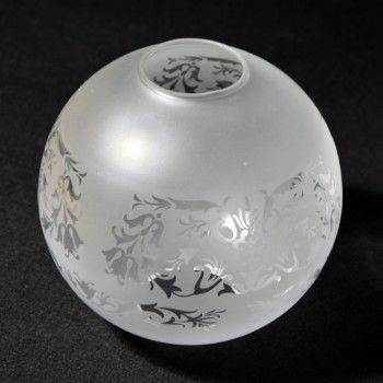 Globe boule gravure LOUIS XV lampe a pétrole lustre luminair 25 Marseille 13 (13)