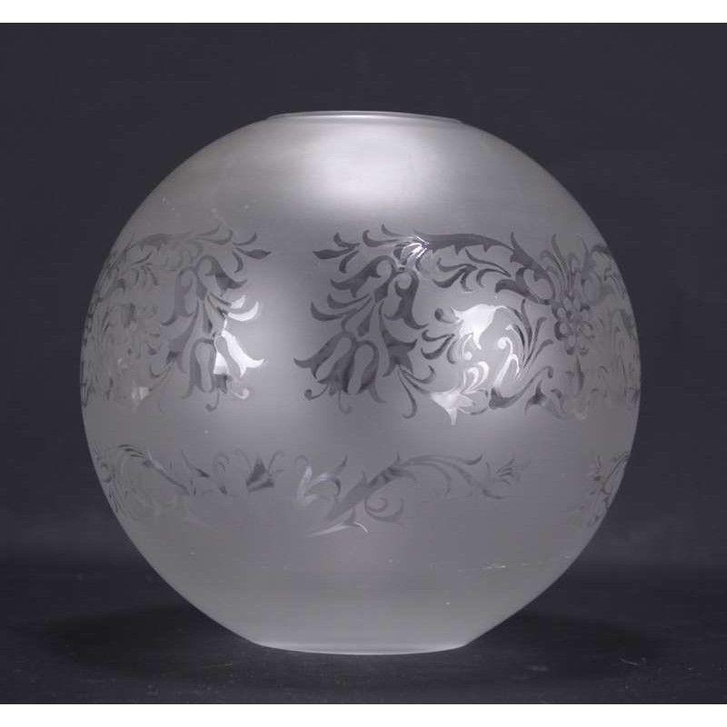 Globe boule gravure LOUIS XV lampe a pétrole lustre luminair 30 Marseille 13 (13)