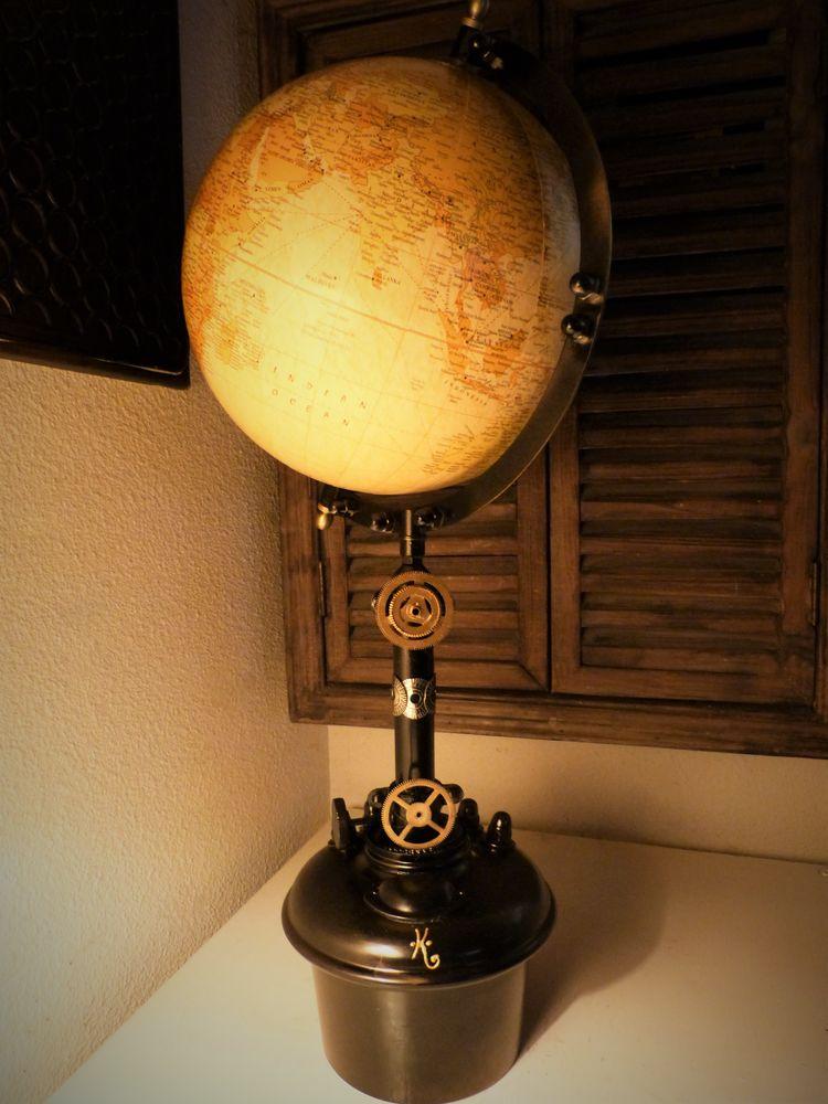 Globe Terrestre  ANTIQUE EARTH  Steampunk 70 Mont-de-Marsan (40)