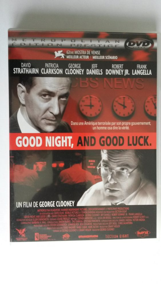 DVD - GOOD NIGHT AND GOOD LUCK 0 Montigny-le-Bretonneux (78)
