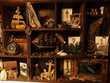 Grand Cabinet Curiosités Marin Steampunk Décoration