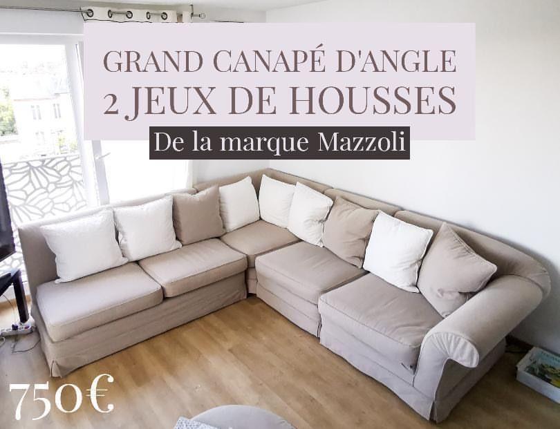 Grand canapé d'angle Italien 750 Cannes (06)