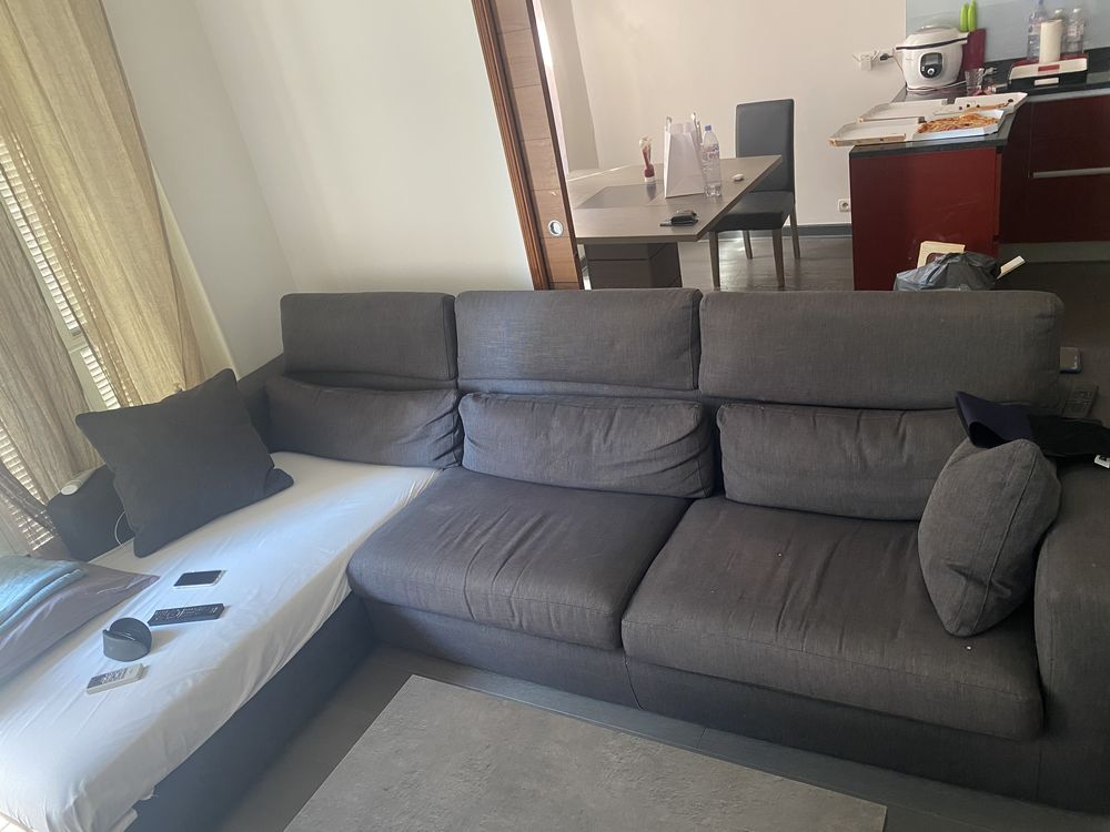 Grand canapé d'angle gris 200 Nice (06)