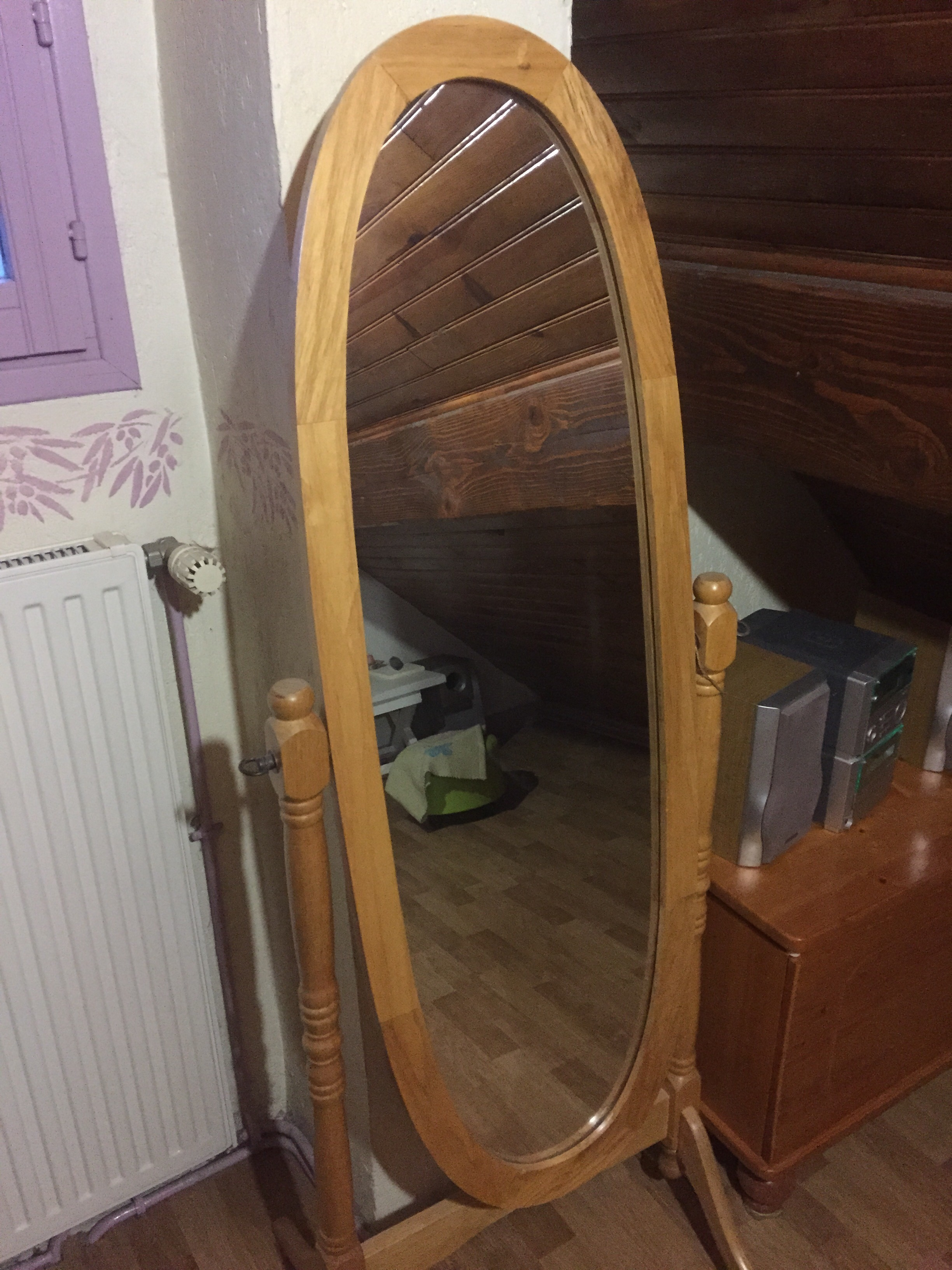 grand miroir en bois 20 Montmorency (95)