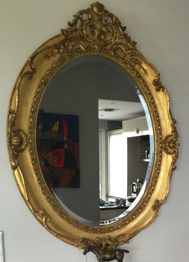 grand miroir, moulures, cadre feuilles d'or 4800 Poisy (74)