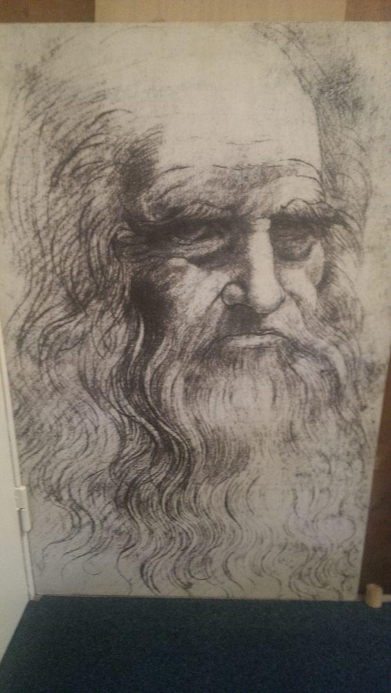 Grand tableau Léonard de Vinci à la sanguine 80 Champigny-sur-Marne (94)