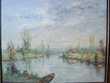 Grand Tableau Paysage Rivière Impressionniste XXe Loches (37)