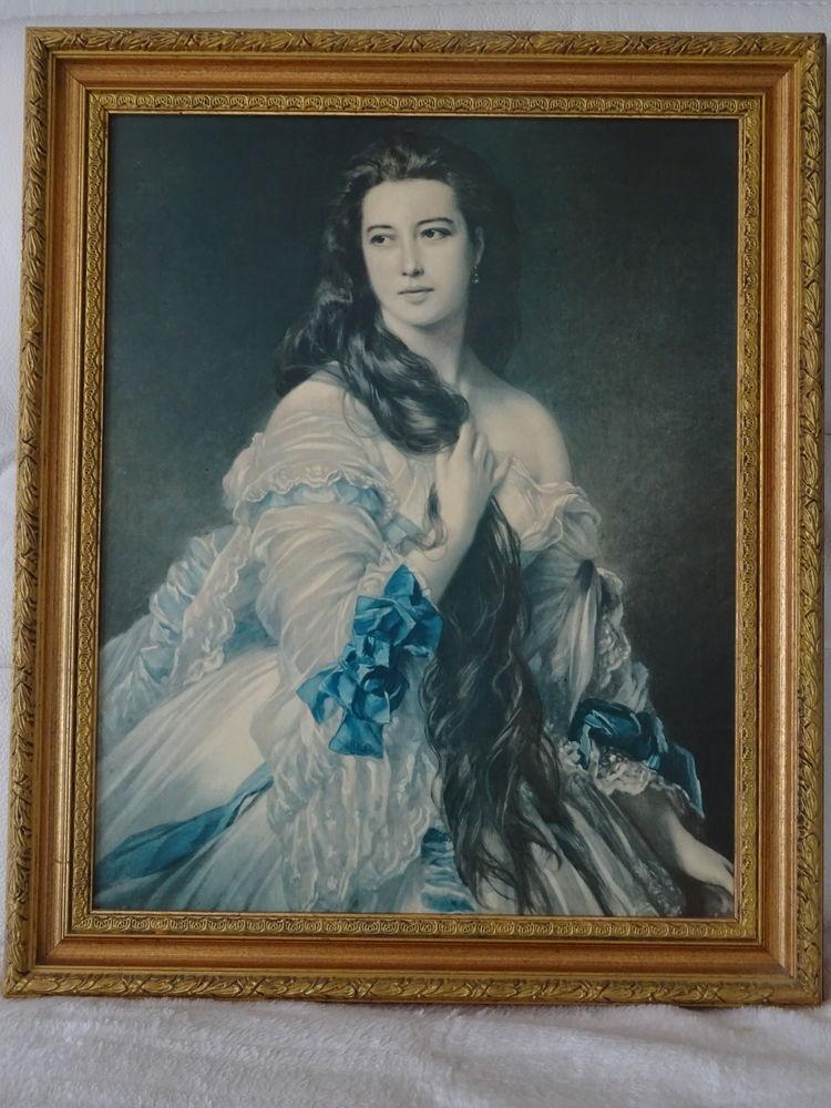 1 grand tableau représentant une femme. Décoration