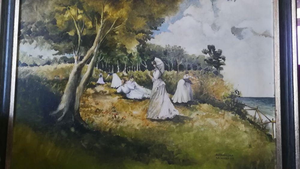 Grand tableau, signé par artiste avec son cadre  0 Apt (84)