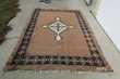 Grand tapis en poils de chèvre et laine , 205 x 290 cm,fait