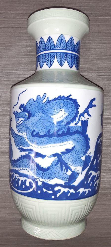 Grand Vase céramique dragon bleu céladon 25 Anhiers (59)