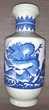 Grand Vase céramique dragon bleu céladon