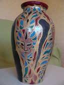 Grand Vase masques de Venise 10 Bordeaux (33)
