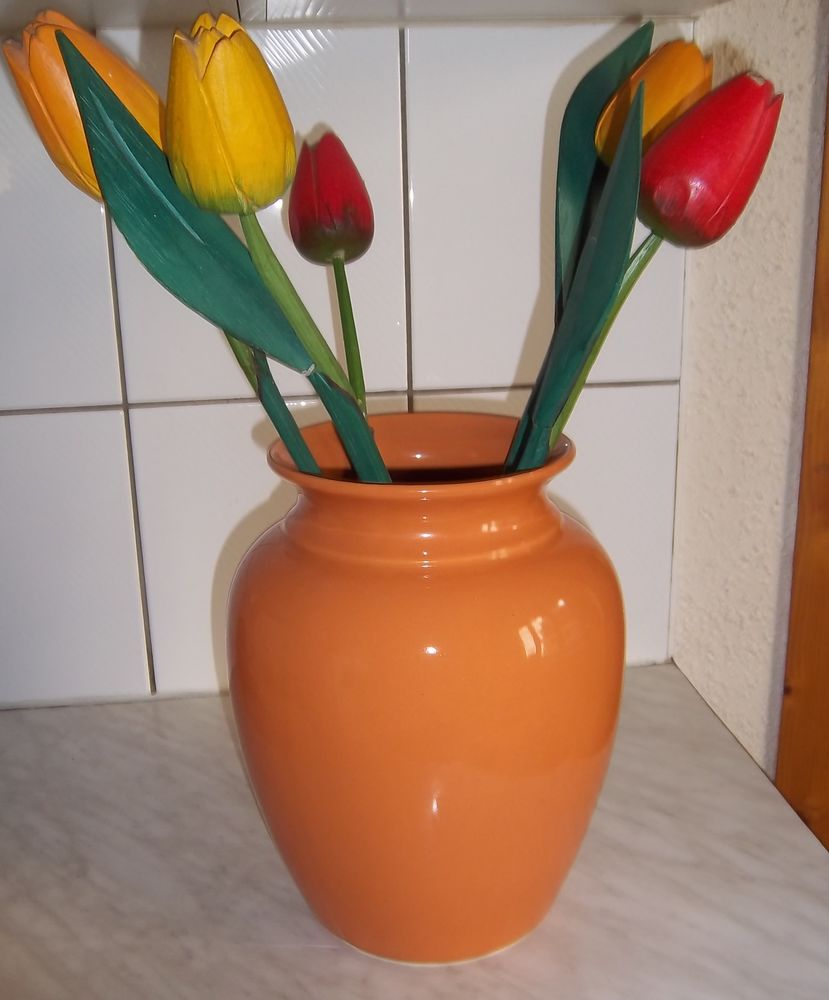 Grand vase orange 26 cm 5 Colombier-Fontaine (25)