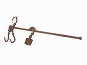 Grande balance romaine à crochets de marque  COUDERT  20 Yerres (91)