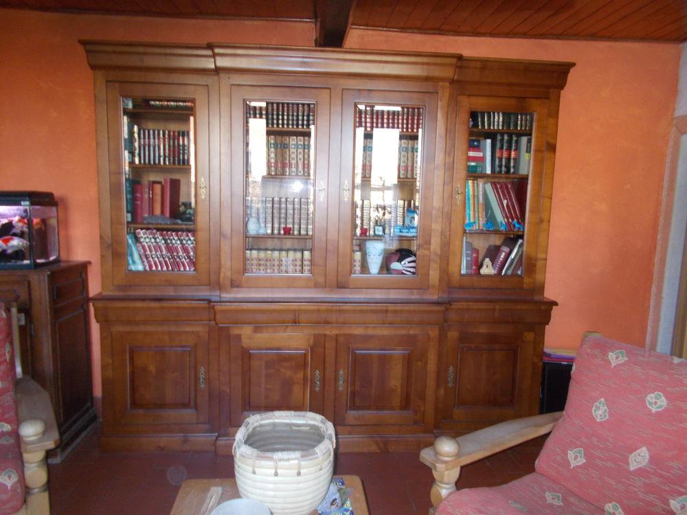 grande bibliothèque merisier massif 0 Verquin (62)