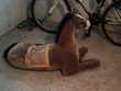 Grande peluche d'un cheval marron Jeux / jouets