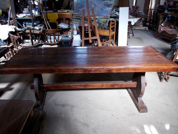 grande table en bois (chêne) ancienne/moderne 500 Monflanquin (47)
