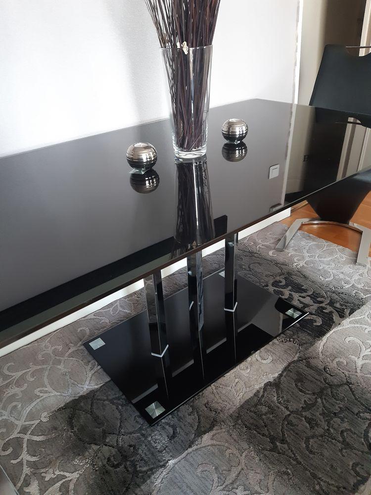 Grande table noir verre trempé  0 Villeurbanne (69)