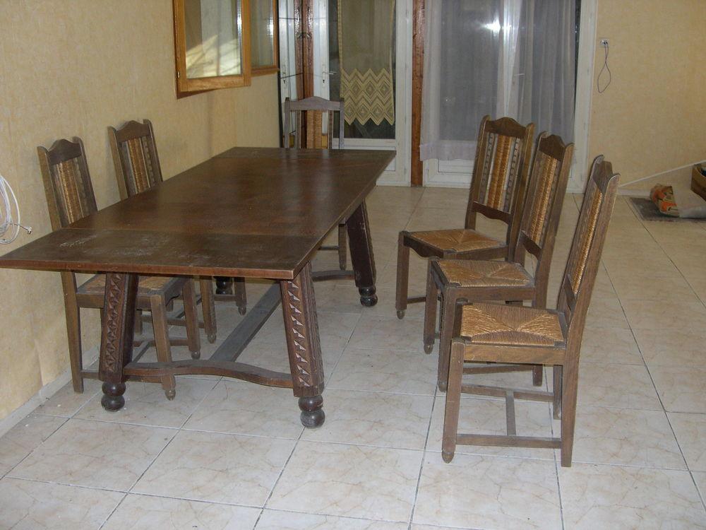 GRANDE TABLE à rallonges et 6 chaise 120 Saiguède (31)