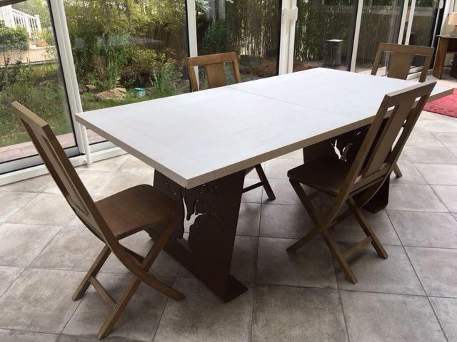 Grande table-repas + 4 chaises 540 Sainte-Geneviève-des-Bois (91)