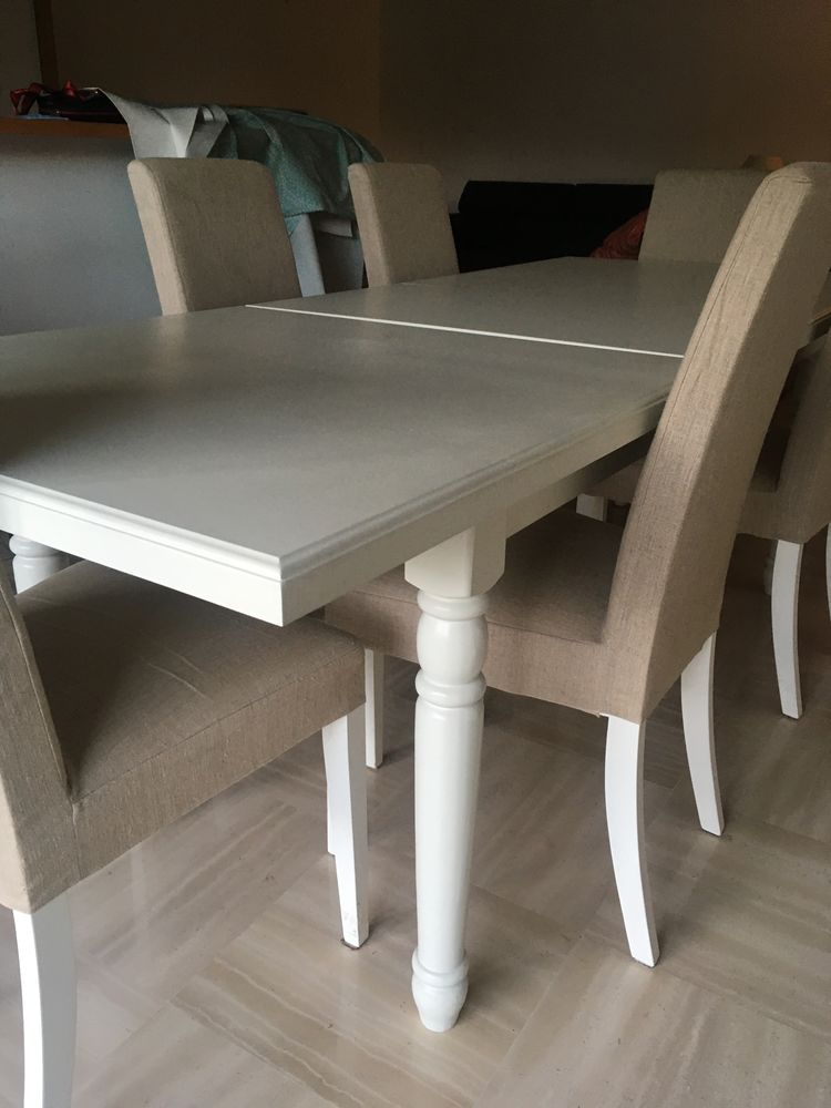grande table salle à manger avec 6 chaises comme neuf ! 350 Nice (06)