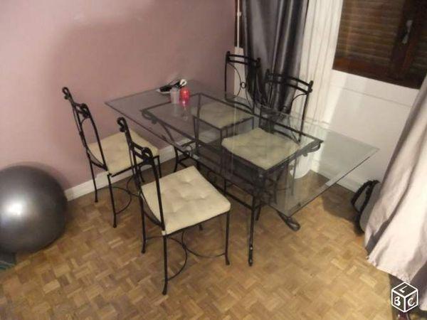 Achetez grande table en occasion annonce vente marseille 13 wb150887149 - Grande table en verre ...