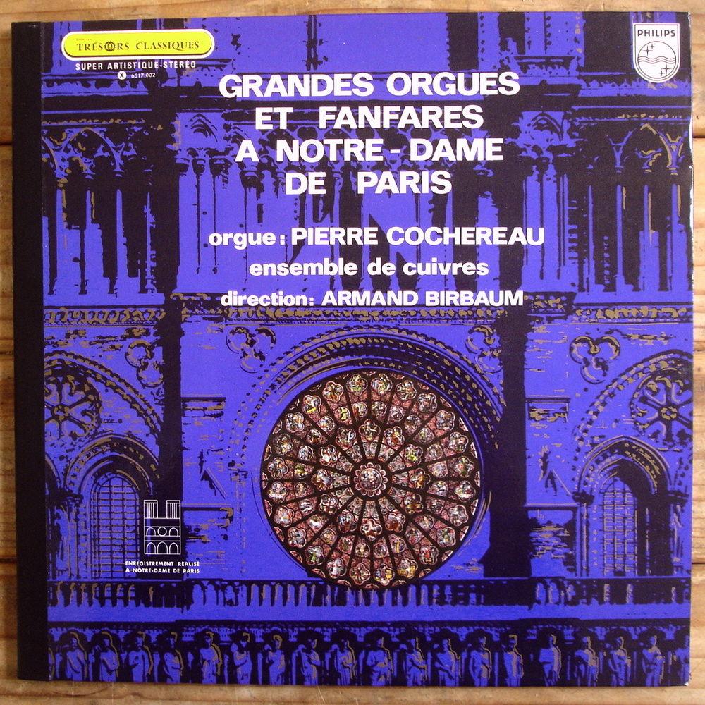 GRANDES ORGUES ET FANFARES A NOTRE DAME DE PARIS -33t 7 Tourcoing (59)