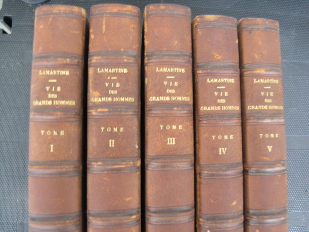vie des grands Hommes  lots de 5 tomes. Livres anciens #3 50 Maule (78)