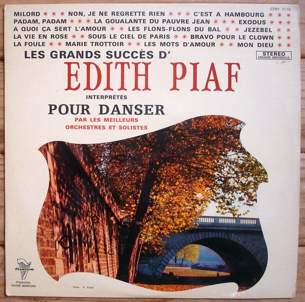GRANDS SUCCÈS D'EDITH PIAF POUR DANSER -33t- AZZOLA-BARELLI 10 Tourcoing (59)