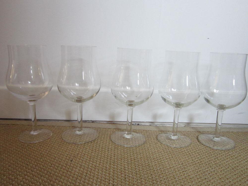 5 grands verres de dégustation en cristal - h:23cm 60 Courbevoie (92)