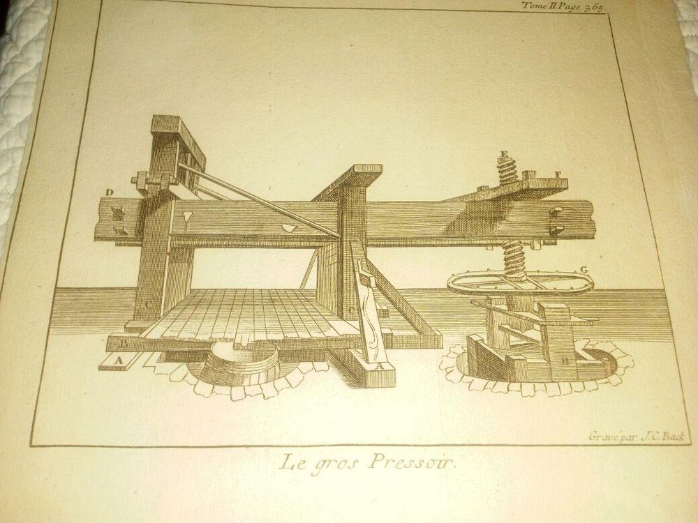 gravure 1735 le gros pressoir