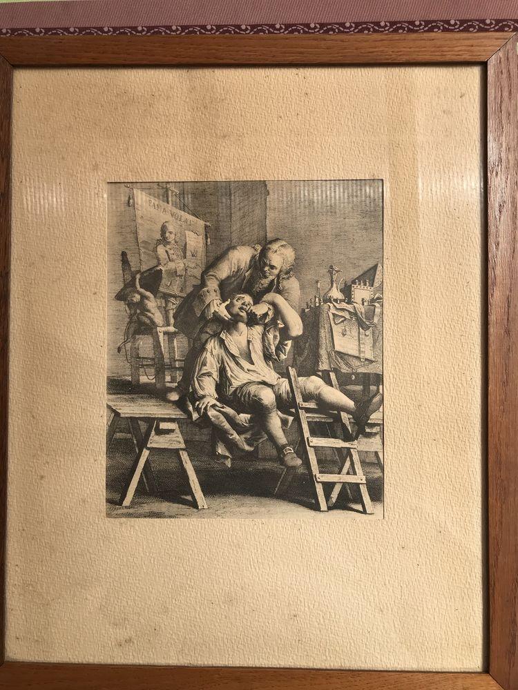 Lot de 3 gravures anciennes  Dentiste   0 Sainte-Geneviève (60)