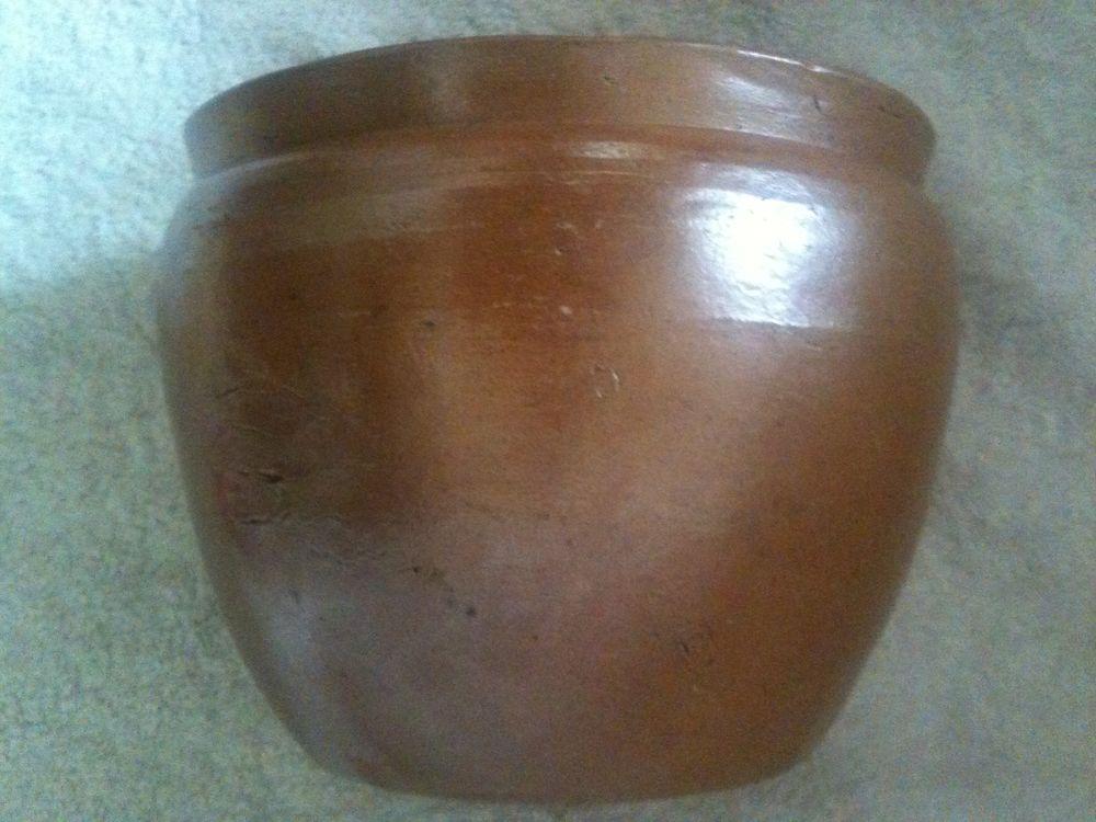 Pot grès vernissé ancien rustique 15 Rouen (76)