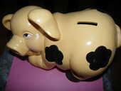 Gros cochon tirelire ancien 20 Auxon (10)